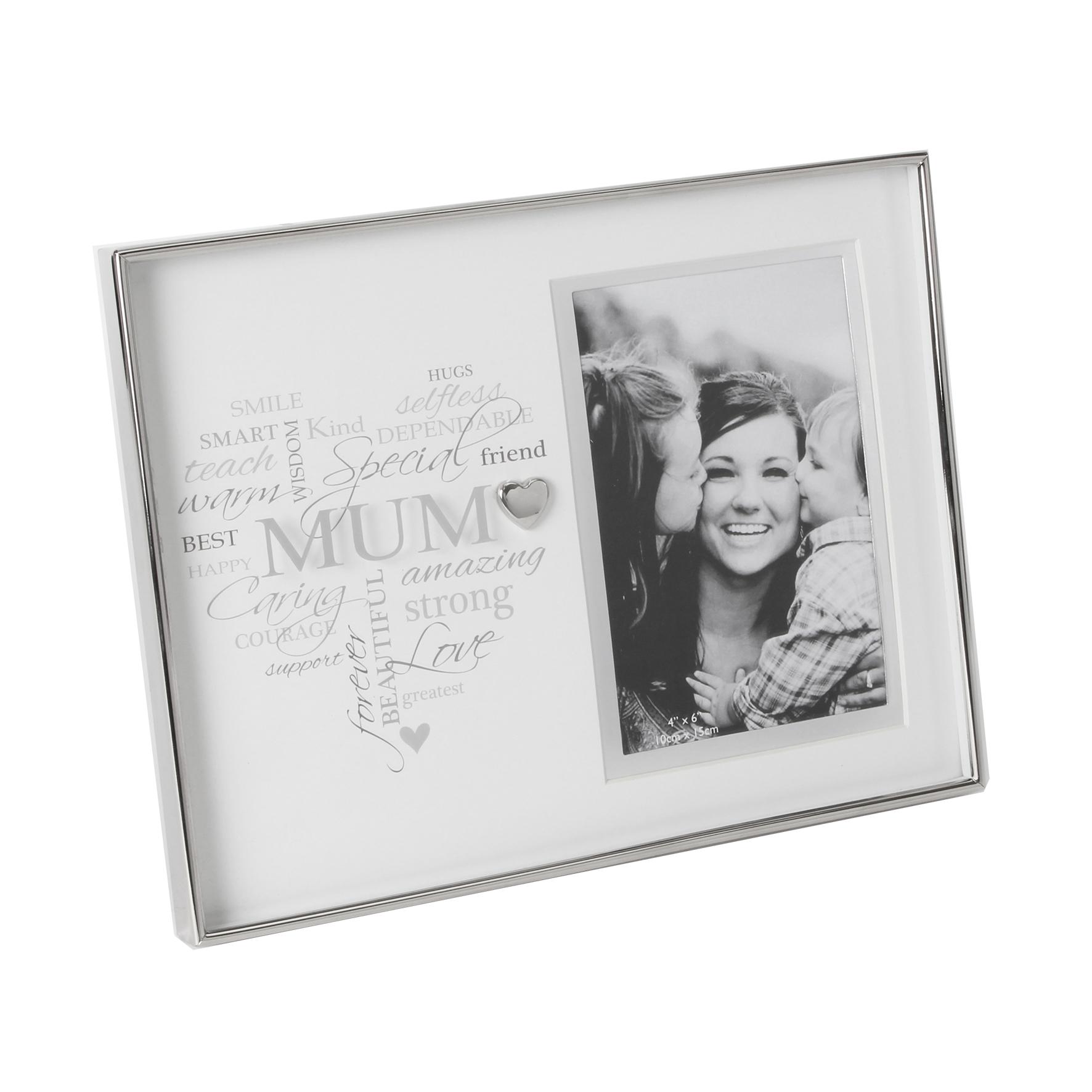 Heartfelt Moments Nickel Plated Frame Heart 4×6 Mum