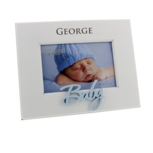 Personalised Occasions' White MDF Frame Laser Cut Word 'Baby' BluePersonalised Occasions' White MDF Frame Laser Cut Word 'Baby' Blue