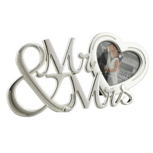 Juliana 2 Tone Silver Plated Frame Mr. And Mrs. With HeartJuliana 2 Tone Silver Plated Frame Mr. And Mrs. With Heart