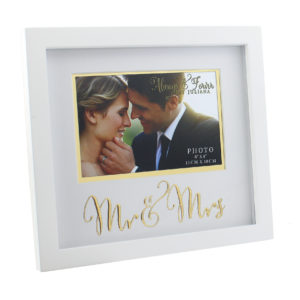 Always And Forever MDF Frame With Gold Words Mr. And Mrs. 6x4Always And Forever MDF Frame With Gold Words Mr. And Mrs. 6x4