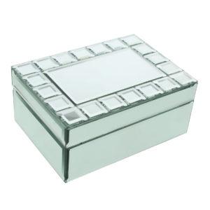 Hestia Glass Mirror Storage Box Square Cut DesignHestia Glass Mirror Storage Box Square Cut Design