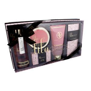 DISCONTINUED - Lila Grace Pink Glitter Dot Bath Gift SetLila Grace Pink Glitter Dot Bath Gift Set