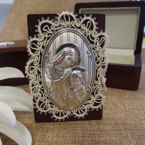 *CLEARANCE* Madonna & Child Icon in Wooden Box*CLEARANCE*  Madonna & Child Icon in Wooden Box