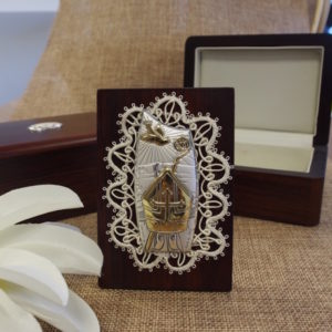 *CLEARANCE* Confirmation Icon in Wooden Box*CLEARANCE*  Confirmation Icon in Wooden Box