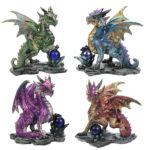 Crystal Rock Soothsayer Enchanted Nightmare Dragon Figurine