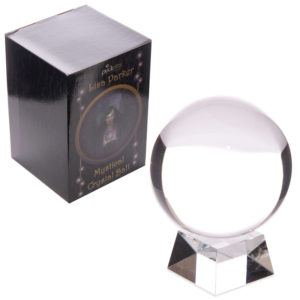 Decorative Mystical 14cm Crystal Ball with Stand