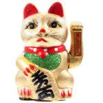 Decorative Waving Maneki Neko Ceramic Cat 21cm