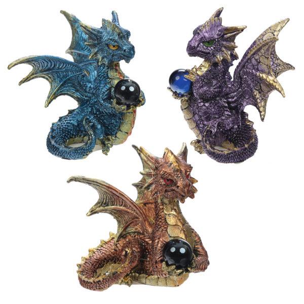Elements Crystal Enchanted Nightmare Dragon Figurine