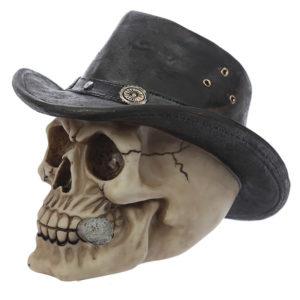 Fantasy Skull with Adventurer Hat Ornament