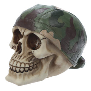 Fantasy Skull with Camouflage Bandana Ornament