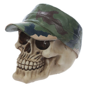 Fantasy Skull with Camouflage Hat Ornament