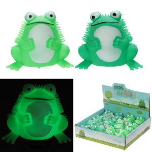 Fun Kids Light Up Squidgy Frog Puff Pet