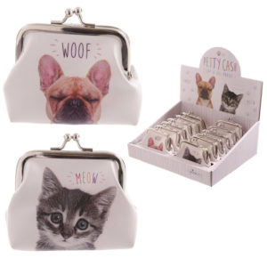 Fun Mini Coin Purse - Cat and Dog