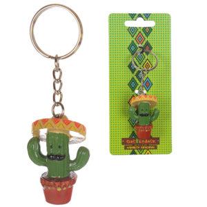 Fun Novelty Cactus Keyring