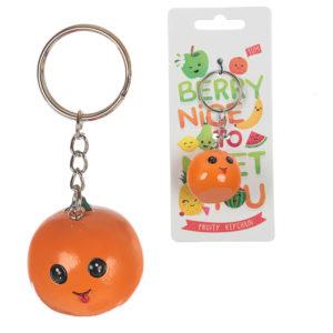 Fun Novelty Fruity Keyring - Orange