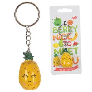 Fun Novelty Fruity Keyring - Pineapple