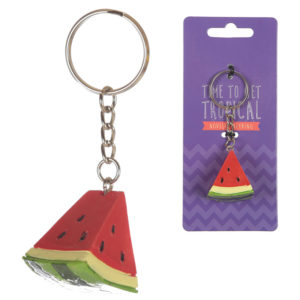 Fun Novelty Tropical Keyring - Watermelon
