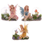 Glitter Flower Fairy Waterball Ornament