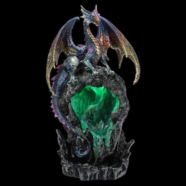 LED Ice Dragon Dark Legends Back Flow Incense Burner