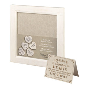 Lillian Rose Small Guest Signing Hearts FrameLillian Rose Small Guest Signing Hearts Frame