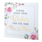 Lillian Rose Watercolor Wedding Wishes SignLillian Rose Watercolor Wedding Wishes Sign