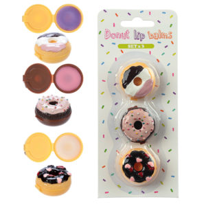 Mini Collectable Lip Balm Pack - Donuts Set of 3