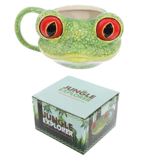 Novelty Tree Frog Shaped Ceramic Mug