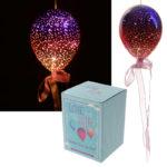Pink  and  Purple Hanging LED Balloon - Medium Metallic