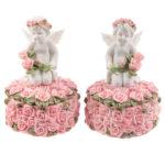 Rose Cherubs – Rose Trinket Box
