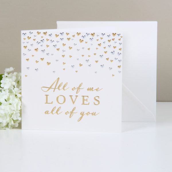Amore Deluxe Card – All Of Me Loves All Of You