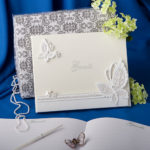 White Butterfly Design Wedding Guest BookButterfly Design Wedding Guest Book