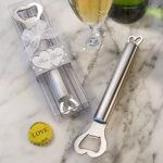 Amore Stainless Steel Bottle Opener Heart DesignAmore Stainless Steel Bottle Opener