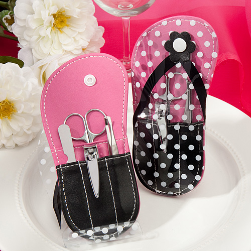 Flip Flop Design Manicure Sets – Pink & Black
