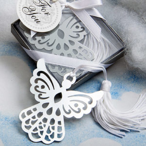 Book Lovers Collection Angel Bookmark Favours With White TasselBook Lovers Collection Angel Bookmark Favors