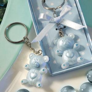 Blue Teddy Bear Design Favor Saver Key chains