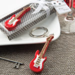 Rock 'n' Roll Classic Red Electric Guitar Design Key Chain