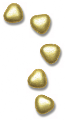 1kg Box Gold Chocolate Heart Dragees Sweets 1cm1kg Gold Chocolate Heart Dragees 1cm