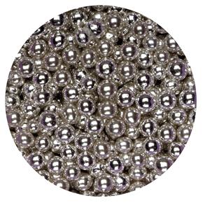 1kg Box Sugared Balls 4mm Sweets Silver1kg Silver Sugared Balls 4mm