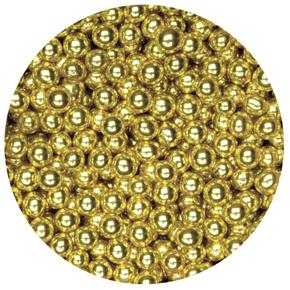 1kg Box Sugared Balls 4mm Gold Sweets1kg Sugared Balls 4mm Gold