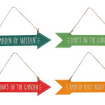 Assorted Hanging Garden Slogan ArrowsAssorted Hanging Slogan Arrows