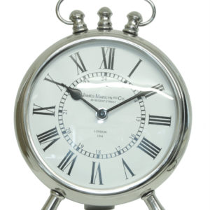 29cm Nickel Round 'Table Clock'29cm Nickel Round Table Clock