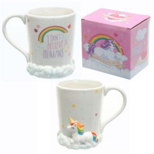 Ceramic Rainbow Unicorn Mug
