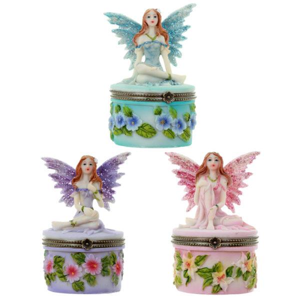 Collectable Flower Fairy Figurine – Secret Trinket Holder
