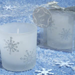 Winter Wonderland Glitter Snowflake Frosted Glass Votive Candle Tea-light HolderWinter Wonderland Frosted Glass Votive Candle