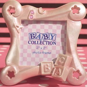 ABC Pink Baby Block Frame (2 x 2 inch)ABC Baby Block Frame Favor.