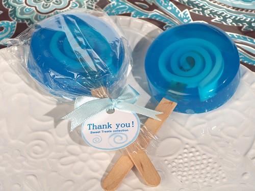 Sweet Treats Blue Lollipop Soap Favor