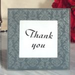 Classic Silver And Grey Damask Design Glass Photo Frame (3 x 3)Classic Design Damask Glass Photo Frame