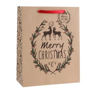Large Craft Paper 'Merry Christmas' Christmas Gift BagLarge Craft Paper 'Merry Christmas' Gift Bag