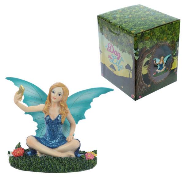 Decorative Selfie Time Collectable Fairy Figurine