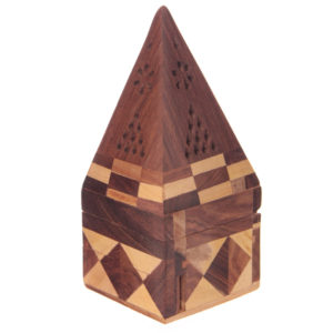Decorative Sheesham Wood Pyramid Box